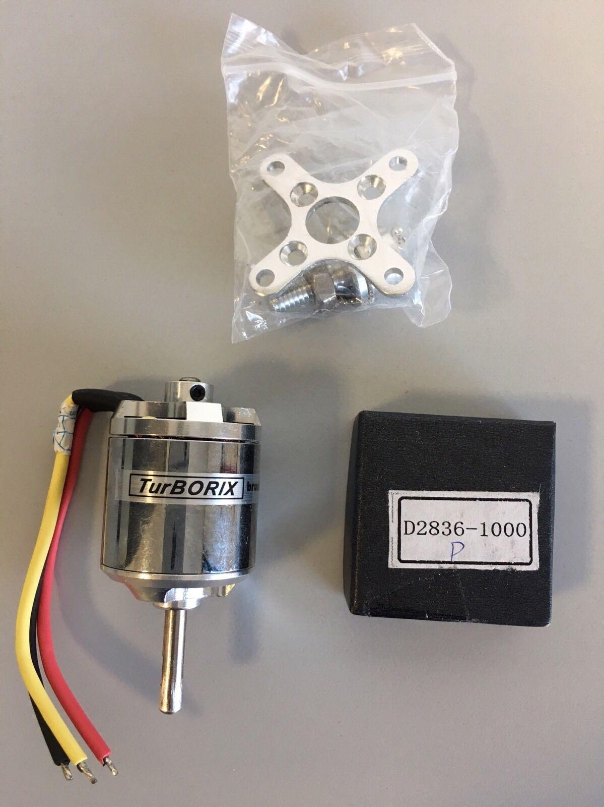 Turborix brushless motor D2836-1000 Brushless Motor For Airplane  1000rpm v222w