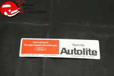 69 Mustang Gt 390 Withram Air Autolite Air Cleaner Service Instructions Decal Fits Mustang