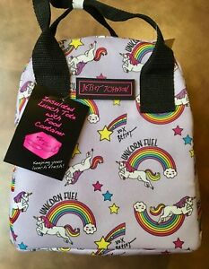 LUV-BETSEY-JOHNSON-Insulated-Lunch-Tote-LAVENDER-UNICORN-FUEL-New