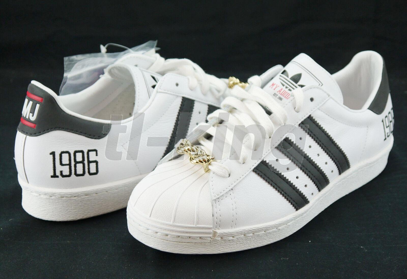 new style 7ada3 aa9ab Adidas Originals Superstar 80s 1986 My Adidas RUN DMC 25th Anniversary sz 8  new