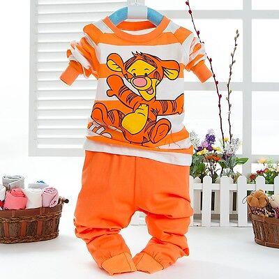 New Autumn Boys 2Pcs Set Long Sleeve T-shirts Tops +Pant Baby Kids Clothes 1-7Y