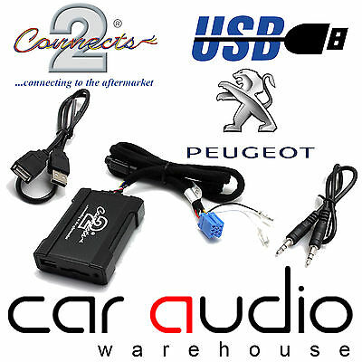 connects2 ctapgusb010 peugeot 206 307 407 607 usb sd aux in interface adaptor ebay. Black Bedroom Furniture Sets. Home Design Ideas