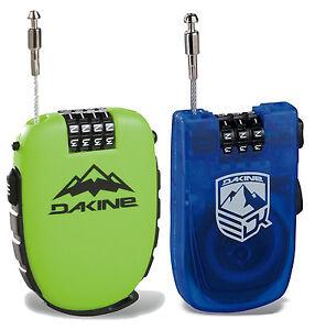 DAKINE-Cerradura-De-Cool-Snowboard-o-esqui-Bolsillo-Candado-Verde-o-azul