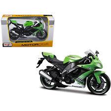 Maisto 2010 Kawasaki Ninja ZX-10R Bike Motorcycle 1:12 31187 Green