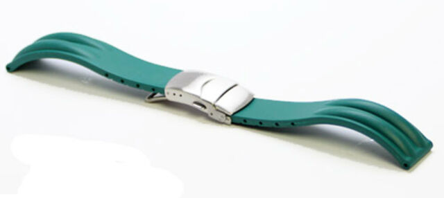 20mm Green MODENA Ridgo Rubber watch strap / band for Watches and Smart Watches