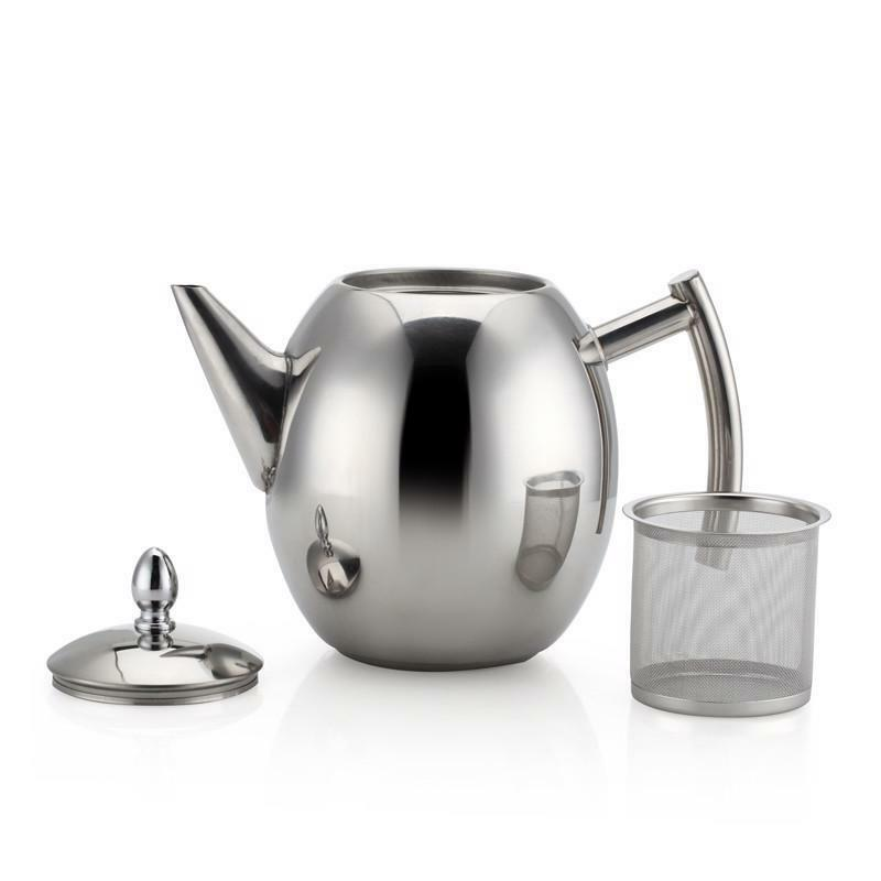 Stainless Steel Teapot Coffee Tea Maker Drink Ware Office Home Kitchen Tools New