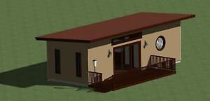 Details about TINY HOUSE PLANS (384 SQ FT ) WITH FREE ENERGY SAVING  CHECKLIST