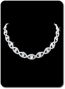 KüHn Braut Strass Halskette Hochzeit Metall Silber/klar Statement-kette Halsband In Den Spezifikationen VervollstäNdigen
