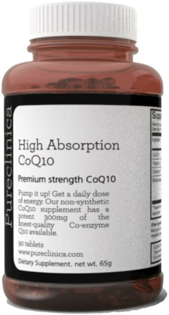 CoQ10 Japanese ubiquinone 300mg x 90 tablets - 3 Months supply. With Vitamin C