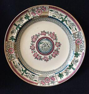 Plate-Earthenware-United-Kingdom-UK-XIX-Th-Series-Kioto-Japan-Asia