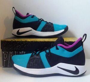 e5ce5a3779f7 Nike PG 2 Mens Basketball Shoes SZ 11 Blue Lagoon Black AJ2039 402 ...