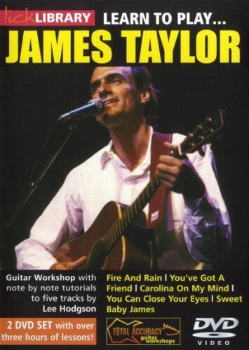 1 of 1 - LICK LIBRARY Learn To Play JAMES TAYLOR You've Got a Friend Acoustic GUITAR DVD