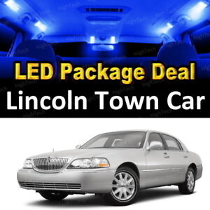 14x Blue Led Lights Interior Package Deal For 2004 2006 2007