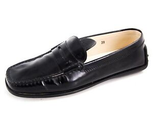 fadc81f597a Image is loading Tod-039-s-penny-loafers-black-patent-leather-