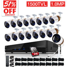 ELEC® Outdoor Home Security Camera System Kit 1500TVL 16CH 960H HDMI CCTV DVR
