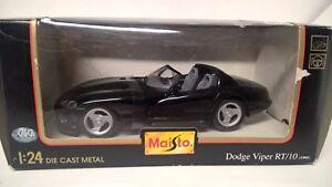 MAISTO-1-24-1-25-DODGE-VIPER-RT-10-BOX