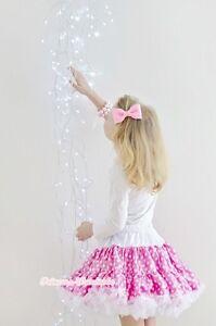 Pink-White-Polka-Dots-FULL-Pettiskirt-Dance-Party-Dress-Girl-Adult-Women-Lady