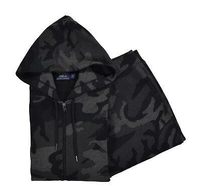 Ralph Lauren Polo Camo Fleece Sweat Pants /& Hoodie Jacket Track Suit New