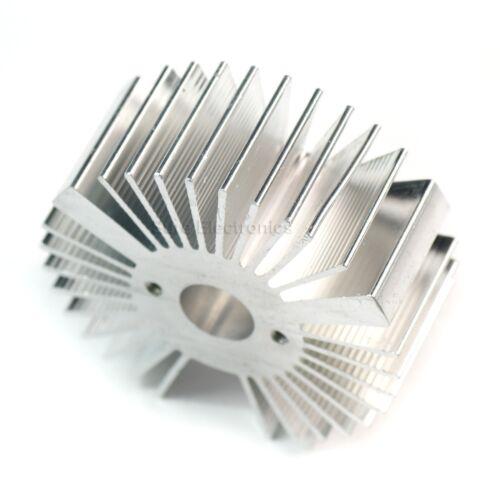 5pcs 2x0.9inch Round Sunflower Aluminum Alloy HeatSink for 1-5W LED Silver White