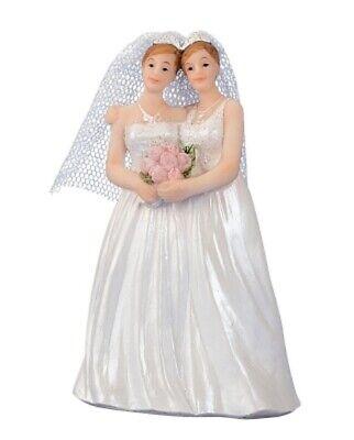 2019 Neuestes Design Brautpaar Hochzeitspaar Cake Topper Frauenpaar Lesben Tortenaufsatz 11 Cm - 1470 Freigabepreis
