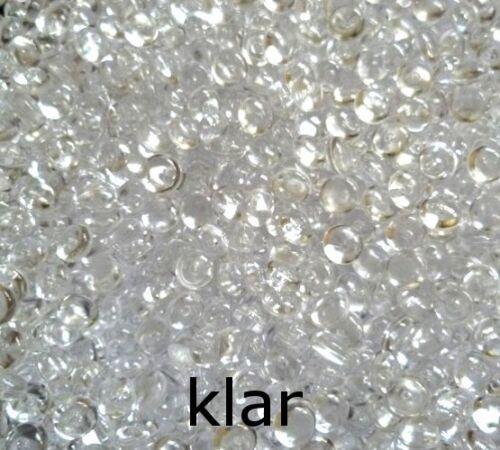 MADE IN GERMANY 1000 Tropfen Perlen Dekogranulat 5-6mm 100g Streudeko