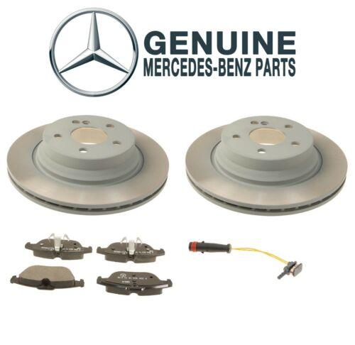 For Mercedes W204 GLK250 Rear Disc Brake Rotors and Pad /& Sensors Genuine Kit