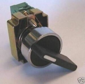 Teknic 2 pos Selector switch W//S11 Contact Block SPST 1NC//1NO