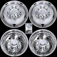 "05-17 FORD F450 F550 Truck 19.5"" 10 Lug Dual Wheel Simulators Rim Covers Liners"