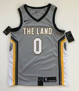 the latest 0bbeb be942 Details about Kevin Love Cleveland Cavaliers Nike City Edition Silver The  Land Jersey Medium