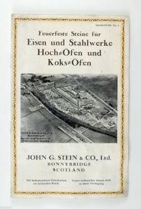 1910s UK Scotland BRICK Factory JOHN G STEIN & CO Bonnybridge VIntage Brochure
