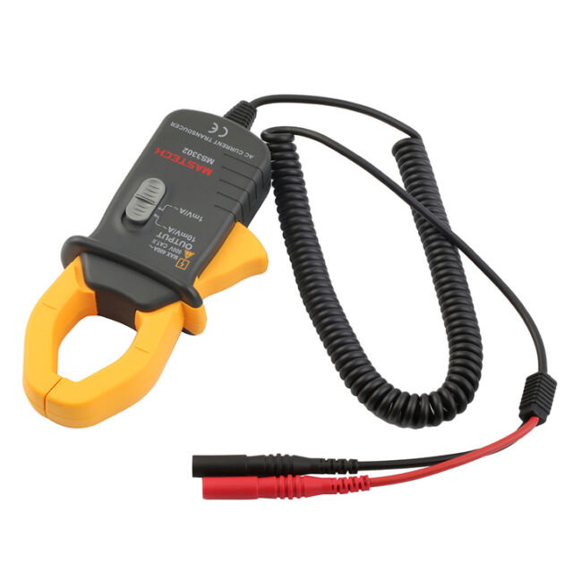!Pro Mini MASTECH MS3302 AC Current Transducer 0.1A 400A Clamp Meter Test&#