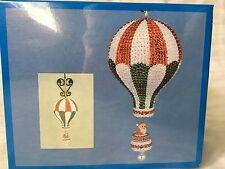 Vintage Satin Cutey MUSICAL Santa's Balloon Bead Sequin Christmas Ornament Kit