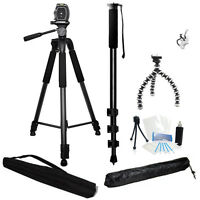 3 Piece Best Value Tripod Package For Sony Dcr-sx85 Hdr-cx130 Hdr-cx210