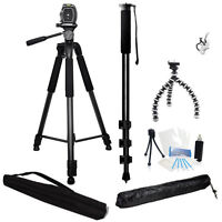 3 Piece Tripod Holiday Bundle For Jvc Everio Gz-ms215 Gz-ms110 Camcorders