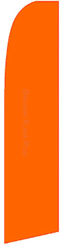 SOLID ORANGE Colors Swooper Banner Feather Flutter Bow Tall Curved Top Flag Sign