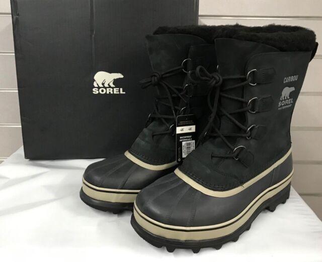 e2de4194a0e SOREL Men Caribou Waterproof -40  Rated Winter Snow Boot Black Tusk NWT  PickSize