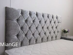 Image Is Loading Stylish New Crushed Velvet Chesterfield Diamante Amp Fabric