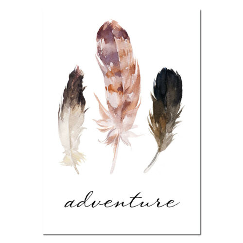 Flower Feather Tribe Arrow Canvas Nursery Wall Art Poster Nordic Abstract Print