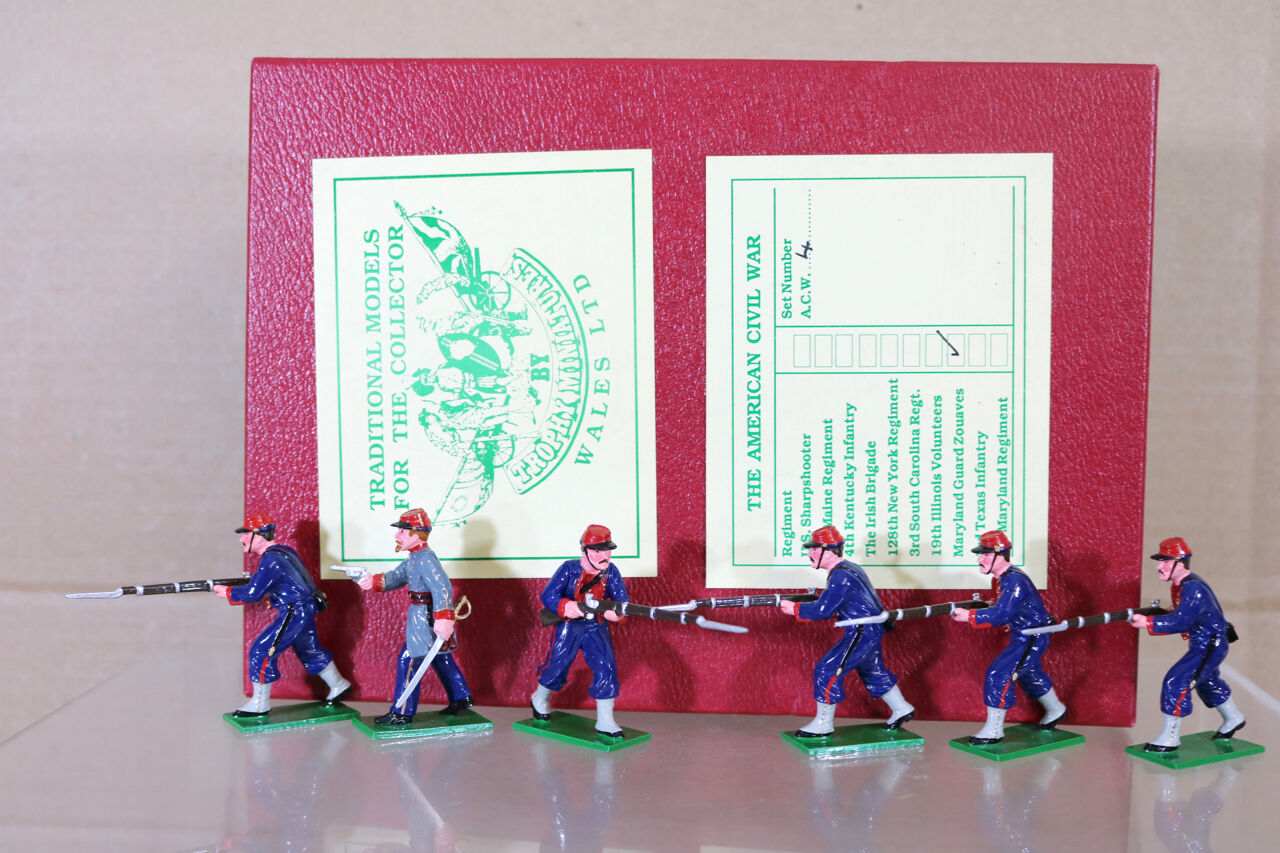 TROPHY MINIATURES ACW4 AMERICAN CIVIL WAR UNION MARYLAND GUARD ZOUAVES ADVANCING