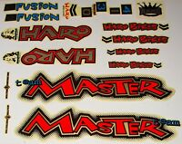Haro Master Bmx Sticker Set - '90s Old School Freestyle Bmx Decal Set -
