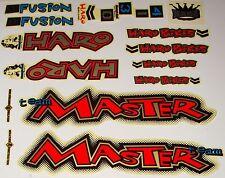 HARO MASTER BMX Sticker Set - '90s Old School Freestyle BMX Decal Set - NOS