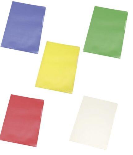 DOKUMENTENECHT mit Farbauswahl 0,12mm 10x A4 Sichthüllen Aktenhüllen 120my
