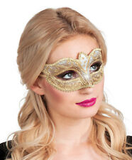 Venice Maske Felina gold NEU - Karneval Fasching Maske Gesicht