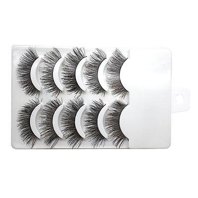 5 Pairs Soft Makeup False Eyelashes Black Eye Lashes Extension Natural Hair