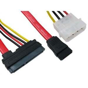 SATA-S-ATA-Serial-Ata-Dual-Combo-de-alimentacion-Molex-combinado-con-Cable-de-datos-SATA-Plomo