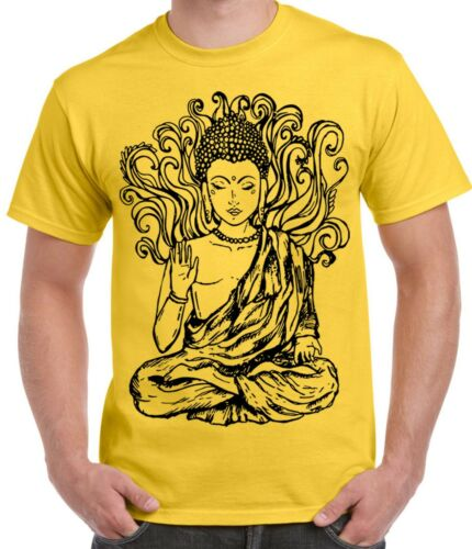 Buddha Design Large Print Men/'s T-Shirt Buddhist Buddhism Meditation