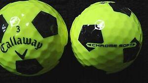 10-Callaway-034-CHROME-doux-034-034-Jaune-034-avec-034-Black-truvis-034-Balles-de-golf-034-PEARL-A