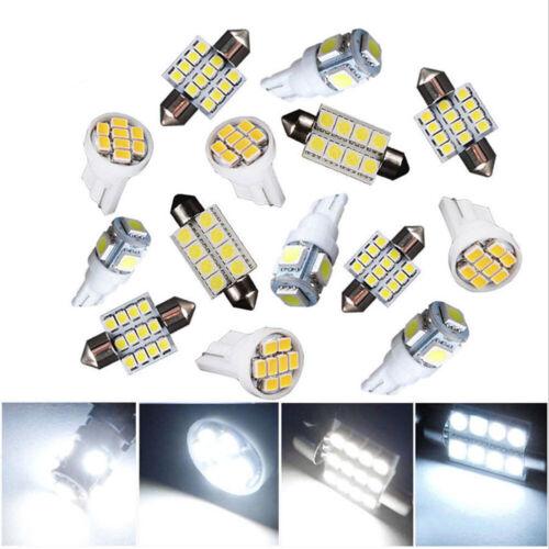 T10 Car LED Light Interior Bulb Package Kit For Map Dome License Plate Light x14