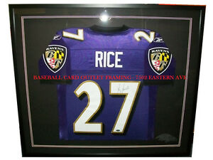 Details about BALTIMORE RAVENS AUTHENTIC JERSEY DISPLAY CASE SHADOWBOX CUSTOM FRAMING