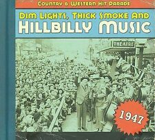 HILLBILLY MUSIC Country West.Hit Parade Dim Lights CD Hardback 1947 LIKE NEW
